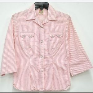Vtg 1950s Levi's Big E Shorthorn Shirt Pearl Snap